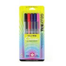 Sakura 37379 5-Piece Gelly Roll Blister Card Gel Ink Pen Set, Fine Point, Assorted Colors
