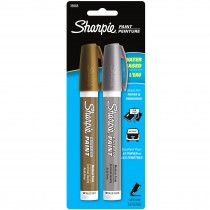 Sharpie Poster Paint, Water Base 2CD Gold Silver Med