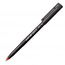 Uni-Ball Onyx R/ball Pen, Fine, Red